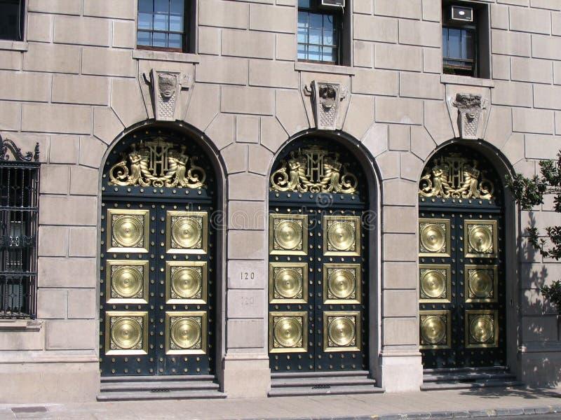 De gouden Deuren Santiago doen Chili stock fotografie