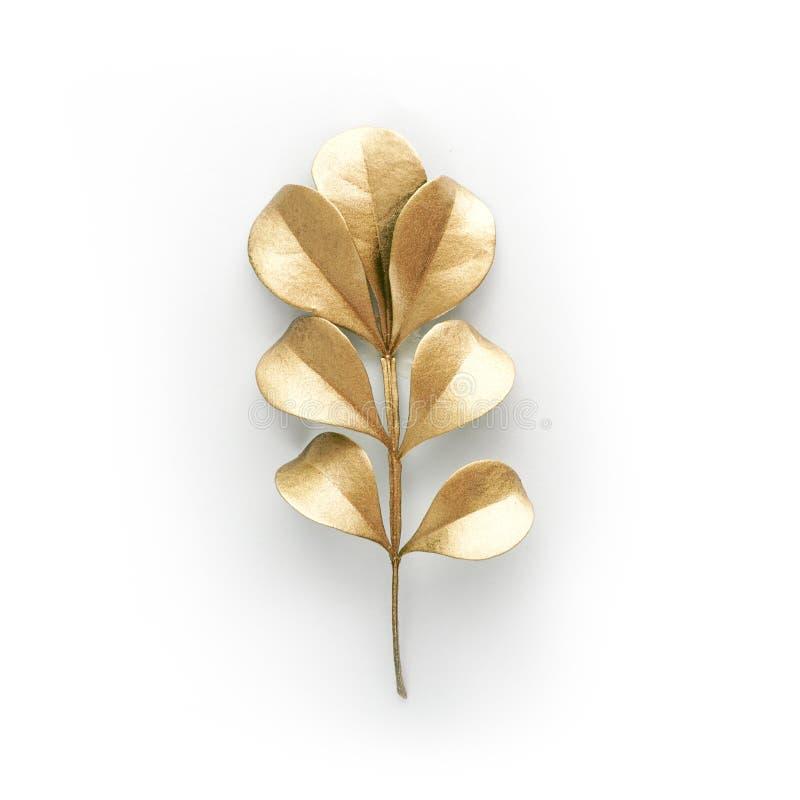 De gouden elementen van het bladontwerp Decoratieelementen voor uitnodiging, huwelijkskaarten, valentijnskaartendag, groetkaarten stock afbeeldingen