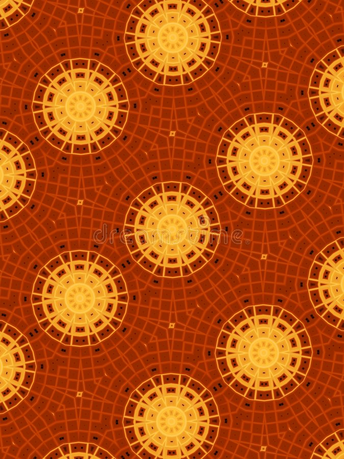 De gouden en Rode Patronen van de Cirkel stock illustratie