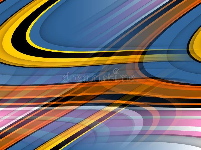 De gouden gele blauwe roze oranje zachte lijnenachtergrond, vat kleurrijke meetkunde samen royalty-vrije illustratie