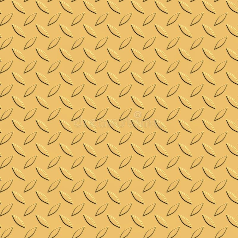 De gouden Gele Naadloze Textuur van de Metaalplaat stock illustratie
