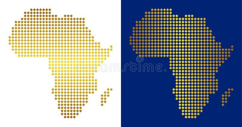 De gouden Gestippelde Kaart van Afrika royalty-vrije illustratie