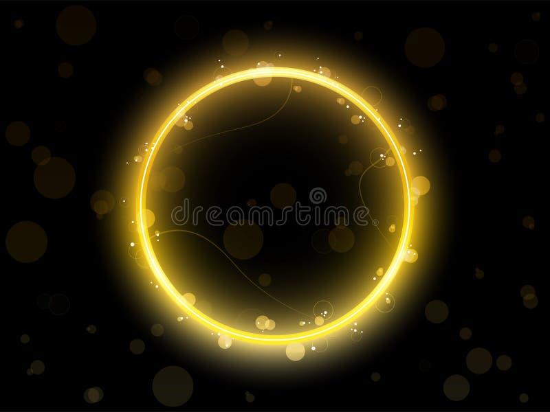 De gouden Grens van de Cirkel stock illustratie
