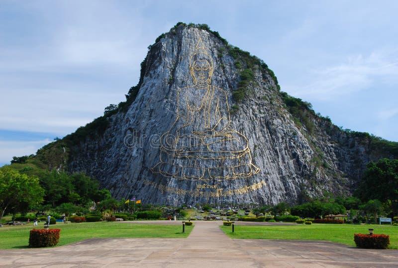 De gouden Heuvel Pattaya Thailand van Boedha royalty-vrije stock afbeelding