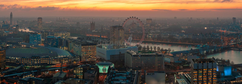 De gouden Horizon van Londen royalty-vrije stock foto's