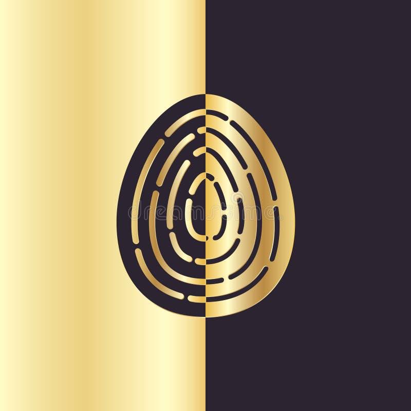 De gouden Kaart van het de Groetei van Folie Gelukkige Pasen vector illustratie