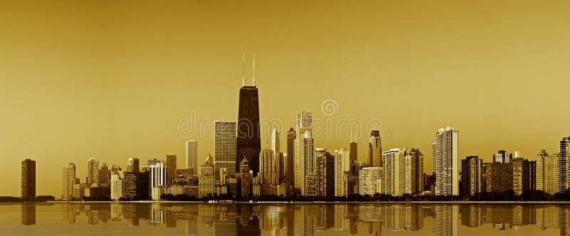 De gouden kust van Chicago. stock afbeeldingen