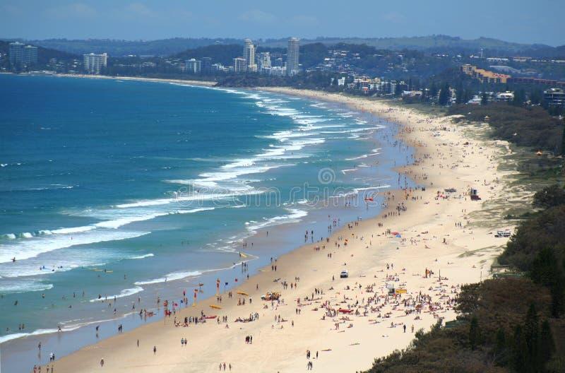 De Gouden Kust van het Strand van het Paradijs van Surfers royalty-vrije stock afbeelding
