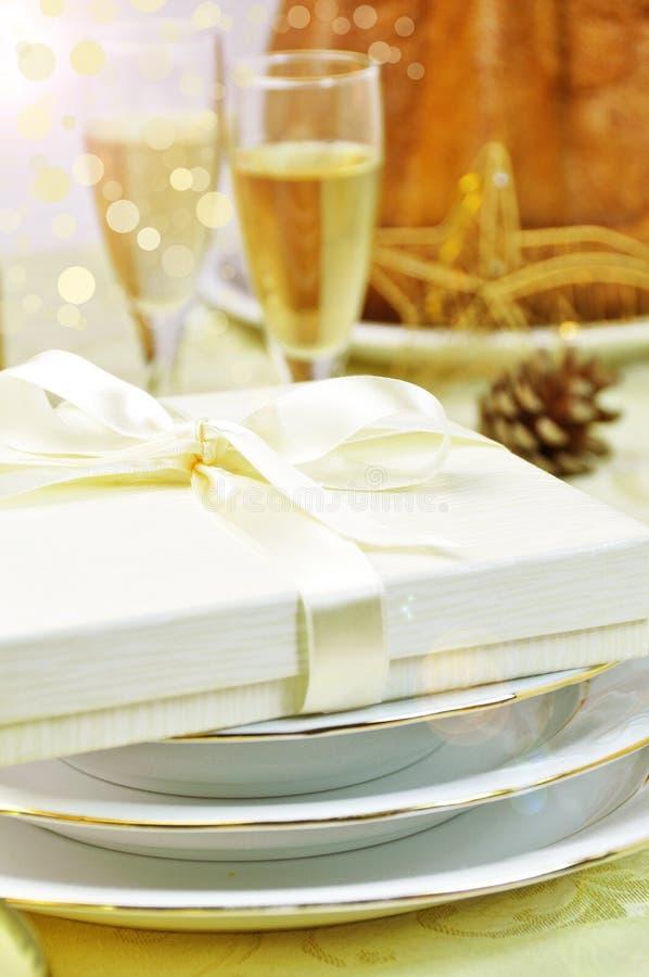 De gouden lijst van Kerstmis stock foto's