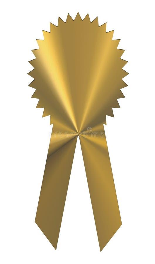 De gouden Medaille van de Toekenning van het Lint stock illustratie