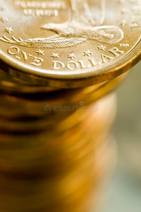De Gouden Muntstukken van de één Verenigde Staten van Amerika van de Dollar royalty-vrije stock fotografie