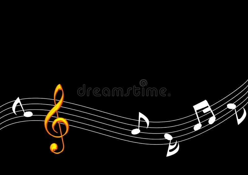 De gouden Nota van de Muziek vector illustratie