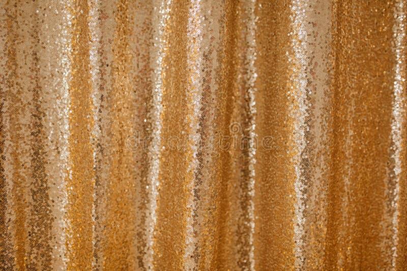 De gouden Opeenvolging Geparelde Achtergrond schittert Patroon stock afbeelding