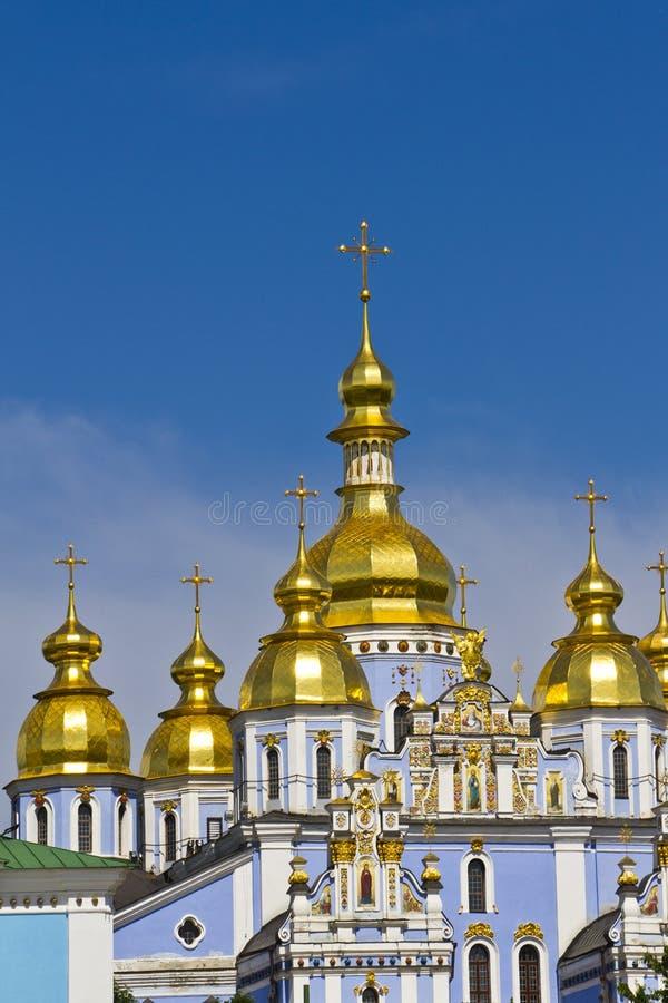 De gouden-Overkoepelde Kathedraal van heilige Michael, Kyiv stock foto's
