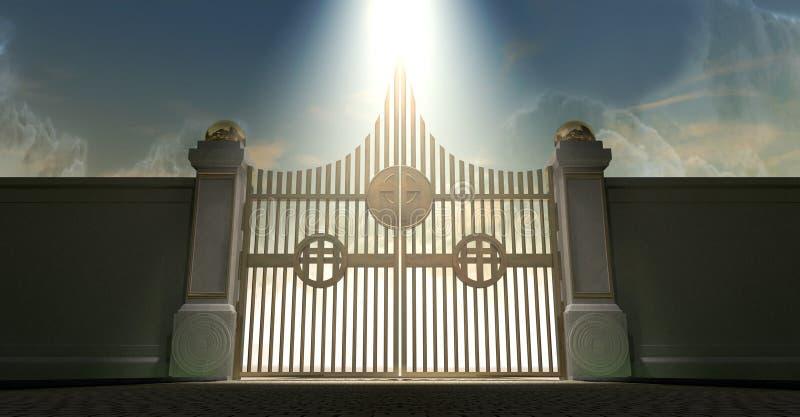 De Gouden Parelachtige Poorten van hemel vector illustratie
