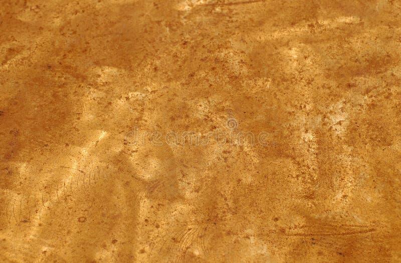 De gouden Plaat van het Messing stock fotografie