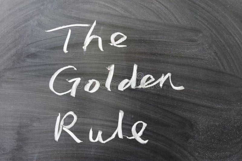 De gouden regel stock foto's