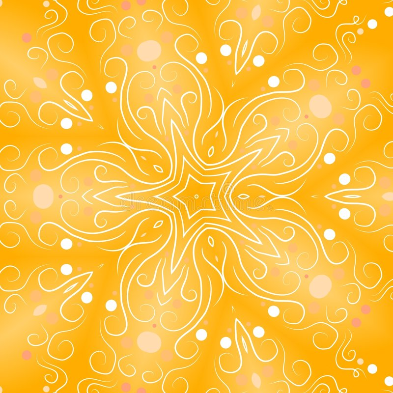 De gouden Retro Achtergronden van de Ster stock illustratie