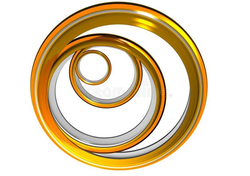 De gouden Ringen royalty-vrije illustratie