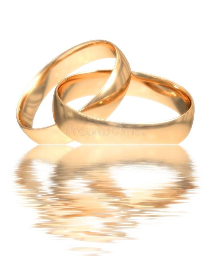 De gouden ringen van het huwelijk royalty vrije stock