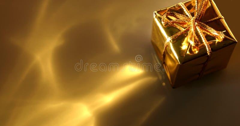 De gouden Samenvatting van de Gift royalty-vrije stock afbeelding