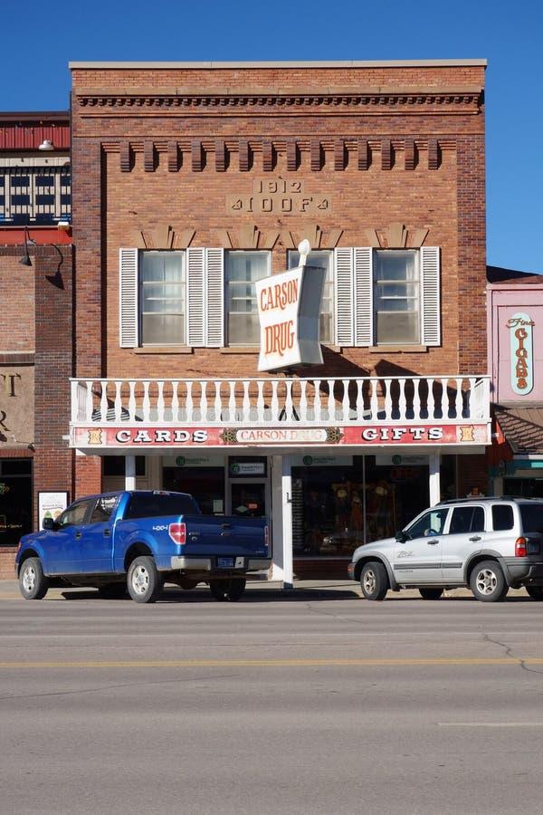 De Gouden Spoedstad van Custer in de Zwarte Heuvels van Zuid-Dakota royalty-vrije stock afbeeldingen