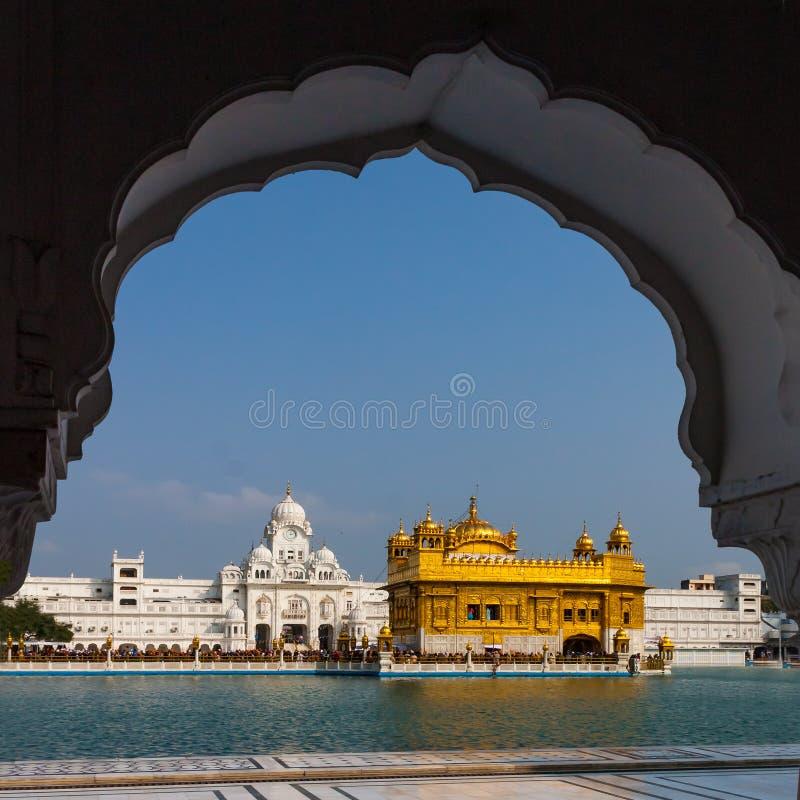 De gouden Tempel, Amritsar, Punjab, India stock fotografie