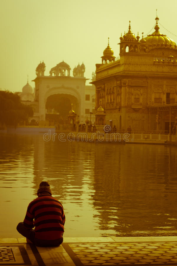 De Gouden Tempel van Amritsar, Punjab, India stock afbeelding