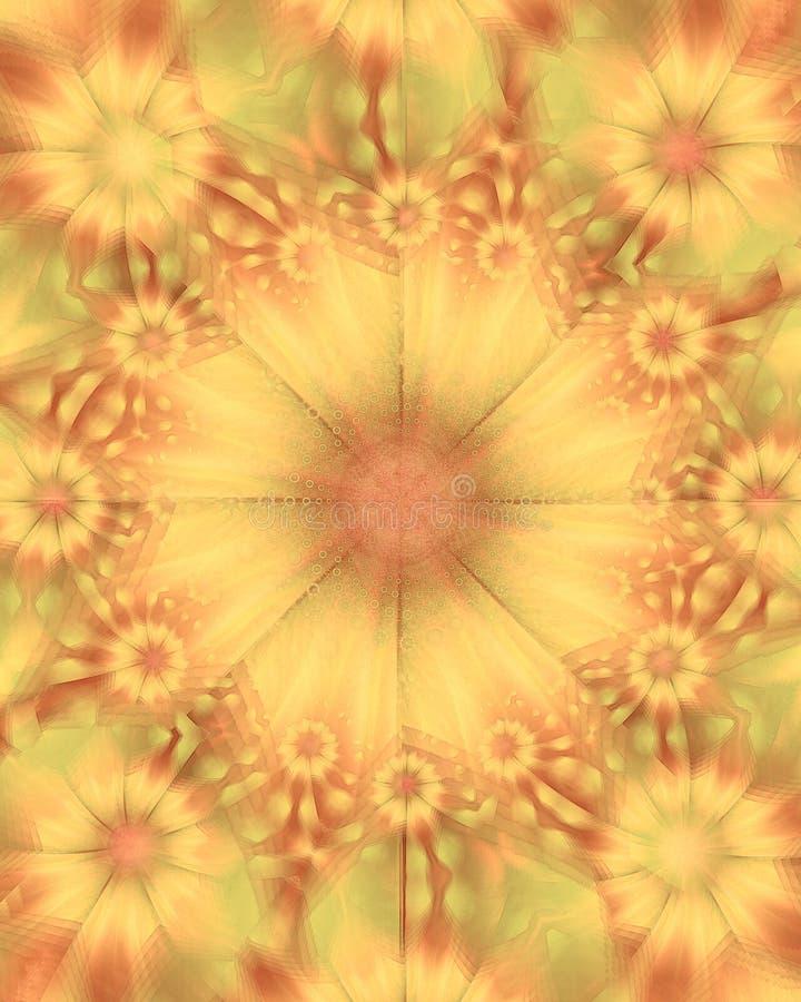 De gouden Textuur van de Bloem van Zonnebloemen stock afbeelding