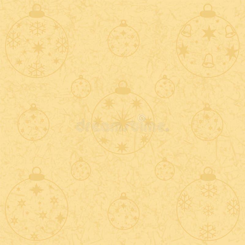 De gouden toon-in-toon van Kerstmisballen op goud vector illustratie