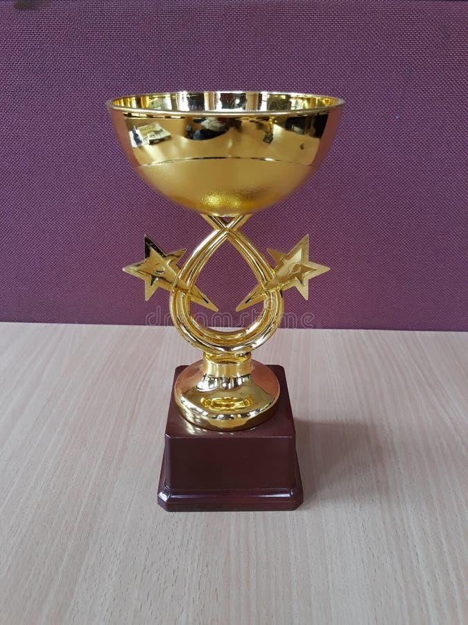 De gouden Trofee van de toekenningskop stock foto