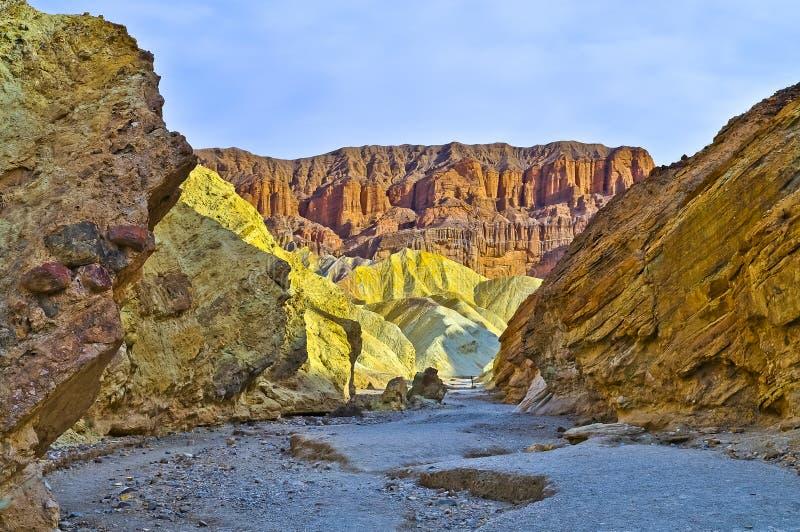 De gouden Vallei van de Dood van de Canion stock foto