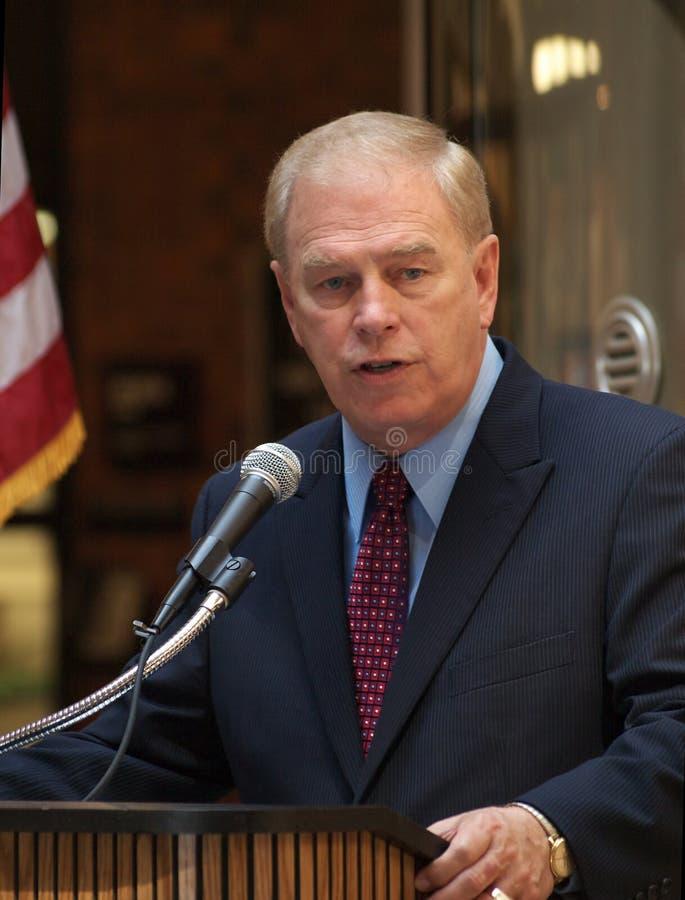 De Gouverneur van Ohio, Ted Strickland stock foto