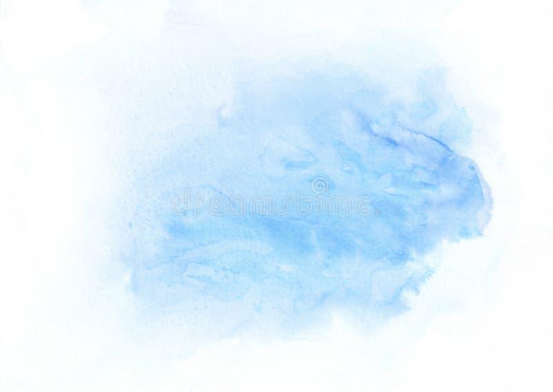 De gradiënt lopende vlek van de hemel blauwe waterverf Mooie abstracte achtergrond voor ontwerpers, modellen, uitnodigingen, pren stock illustratie