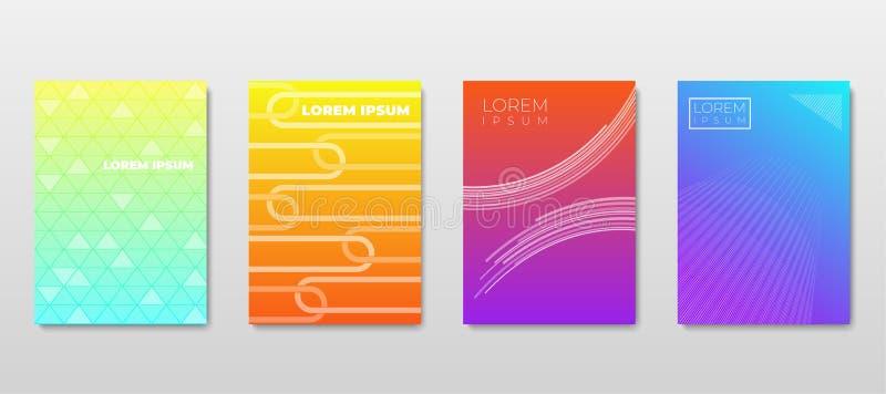 4 De gradiëntabstractie van Lay-outs royalty-vrije illustratie
