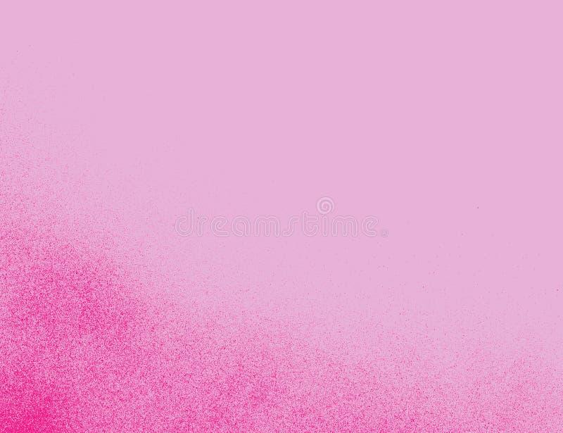 De gradiënteffect van het graffiti roze gespikkeld luchtpenseel in roze stock illustratie