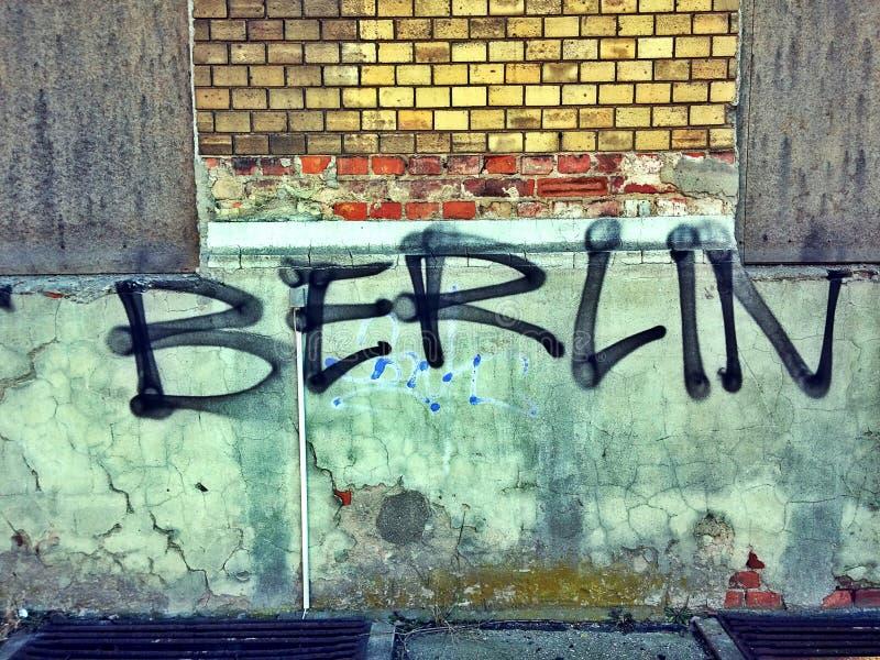 De graffiti van Berlijn stock illustratie