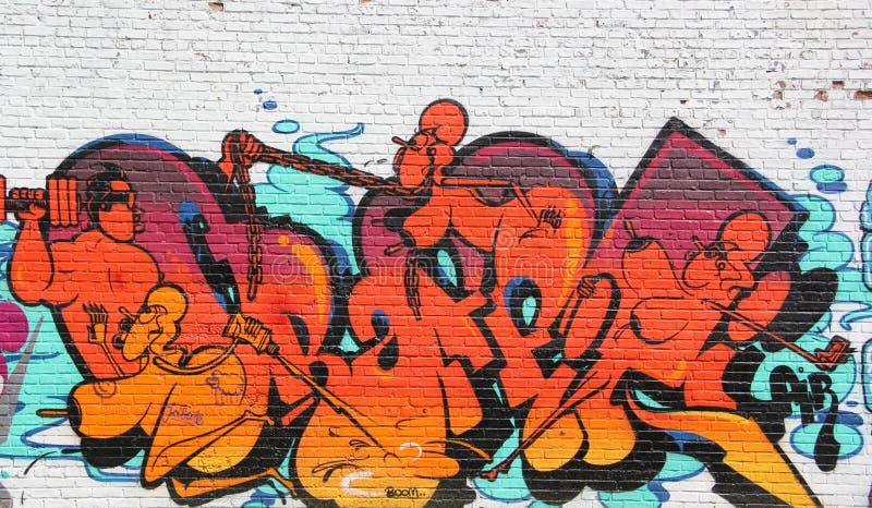De graffiti van Chicago stock afbeeldingen