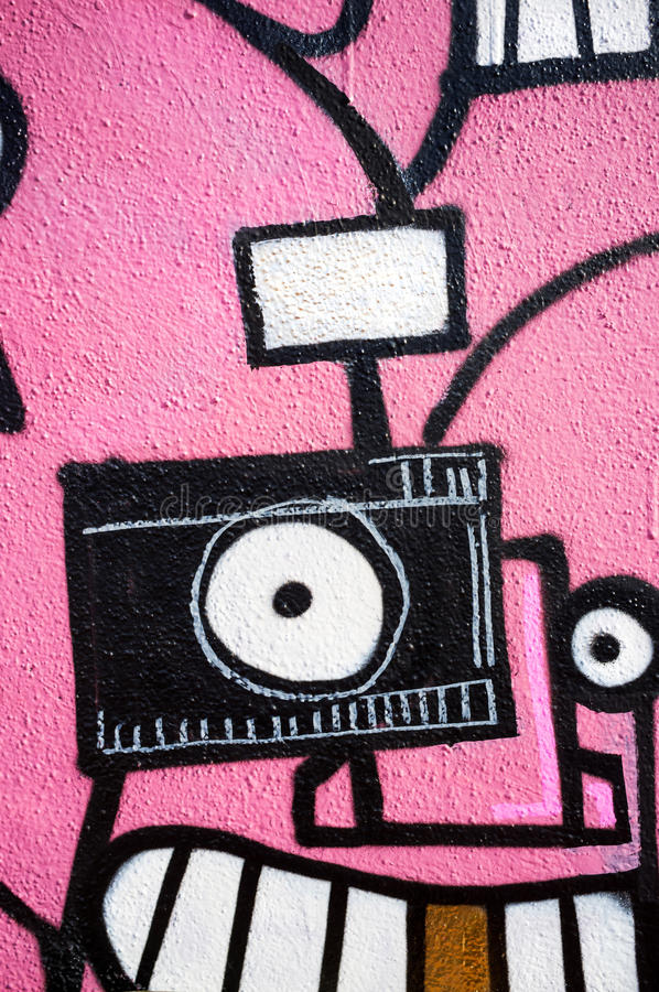 De graffiti van het cameraoog stock foto