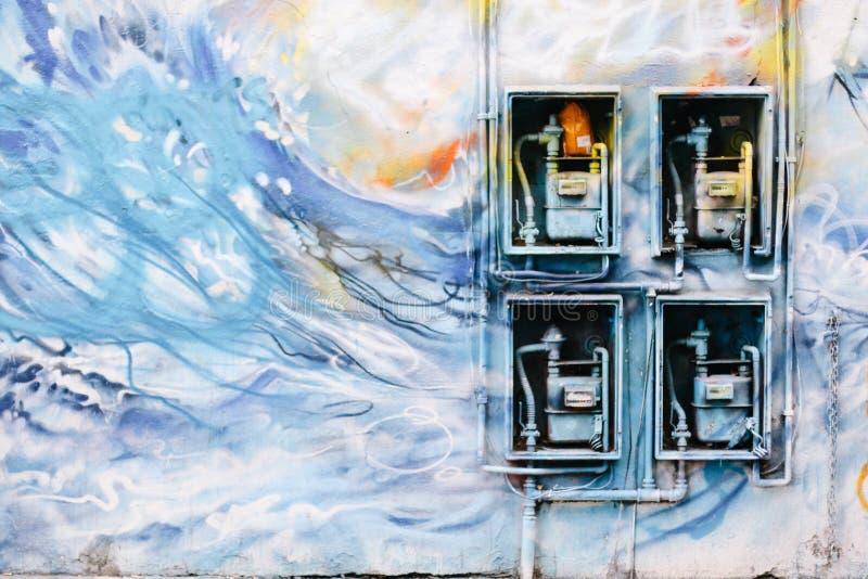 De Graffiti van het Eindlonden van het oosten stock foto's