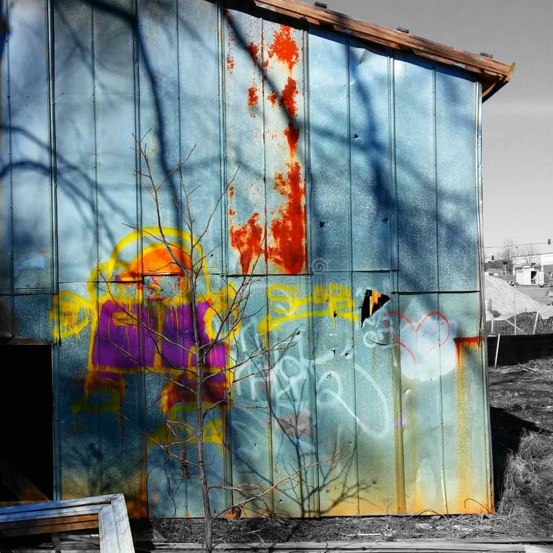 De graffiti van het land stock afbeeldingen