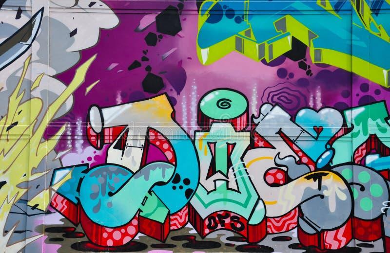 De Graffiti van de stadsstraat royalty-vrije stock afbeeldingen