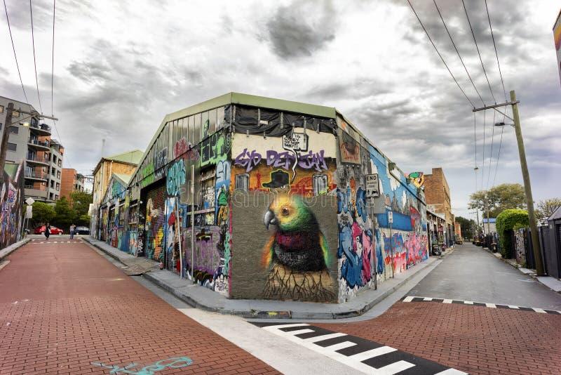 De Graffitisteeg stock afbeelding