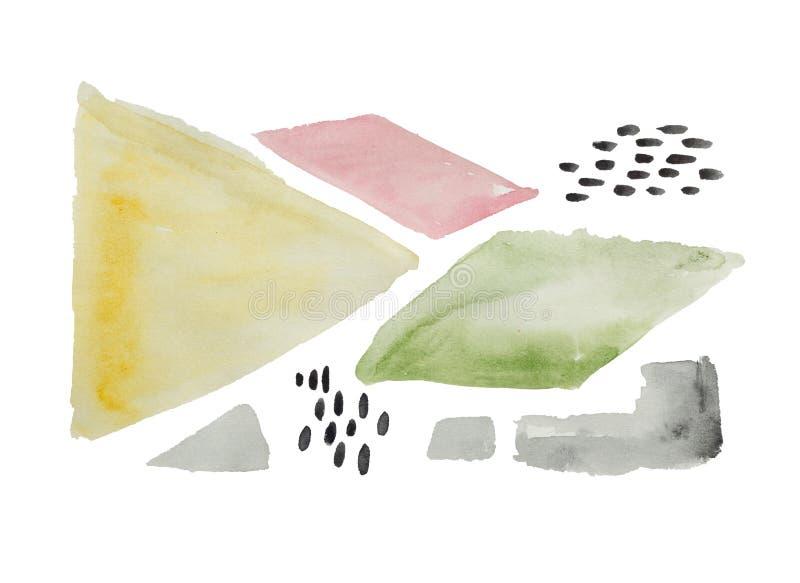 De Grafiek  van waterverfillustraties Ð bstract stock illustratie