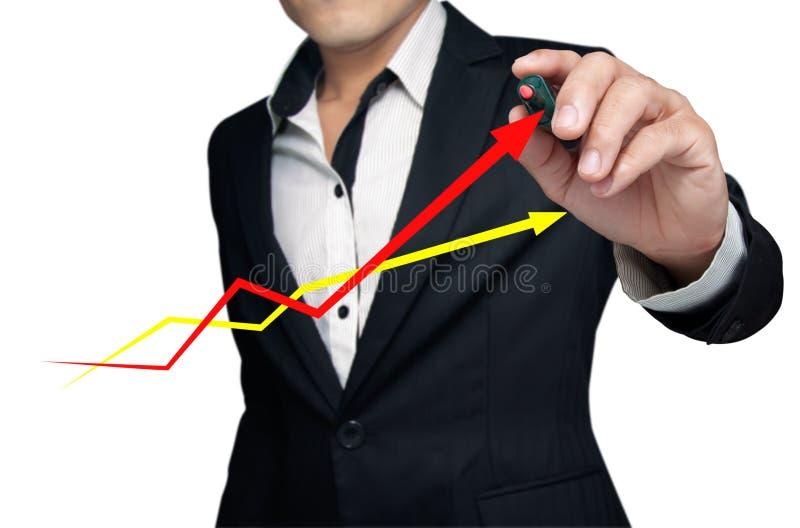 De grafiek. stock afbeelding
