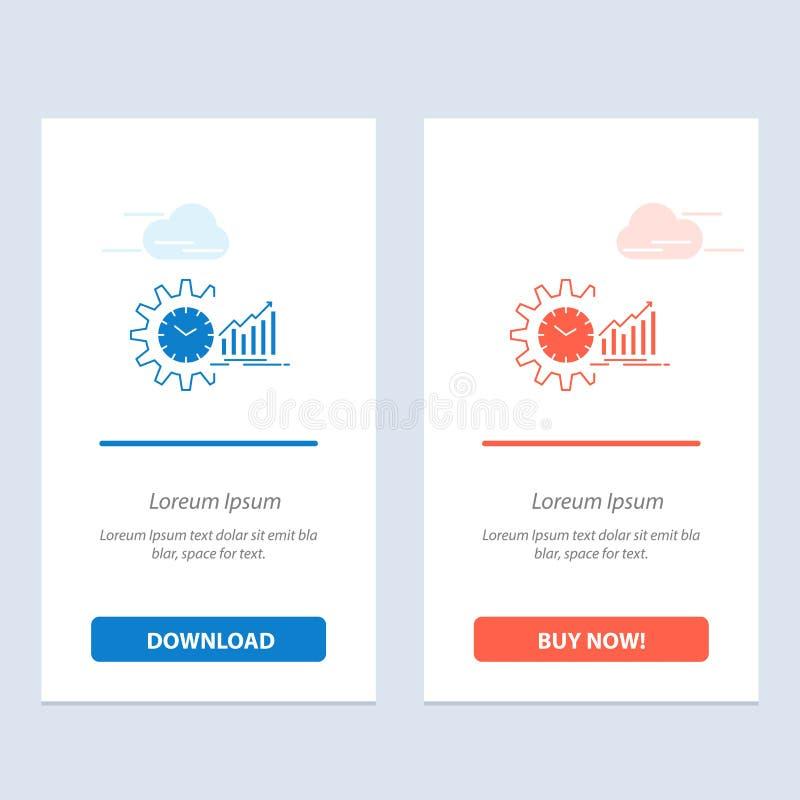De grafiek, Analytics, de Grafieken, de Markt, het Programma, de Tijd, de Tendensen Blauwe en Rode Download en kopen nu de Kaartm vector illustratie