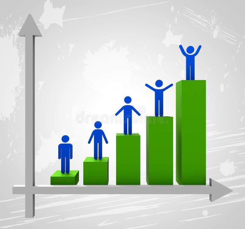 De grafiek die betekent omhoog Tendens en groeit stijgen stock illustratie