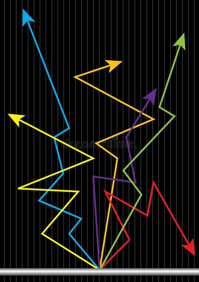 De Grafiek Markt van de bedrijfs van het Aandeel stock illustratie