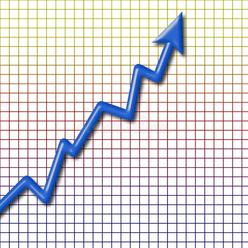 De grafiek toont stijging Financiële informatiegrafiek stock illustratie