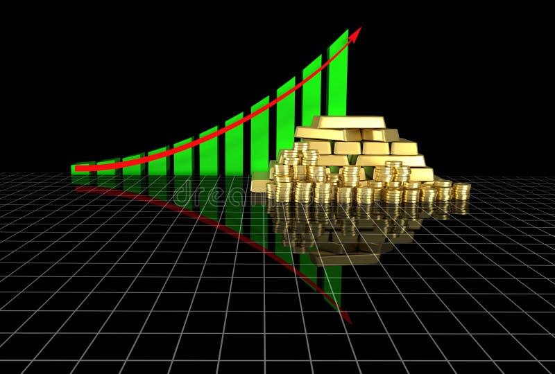 De grafiek van Arrowed stock illustratie
